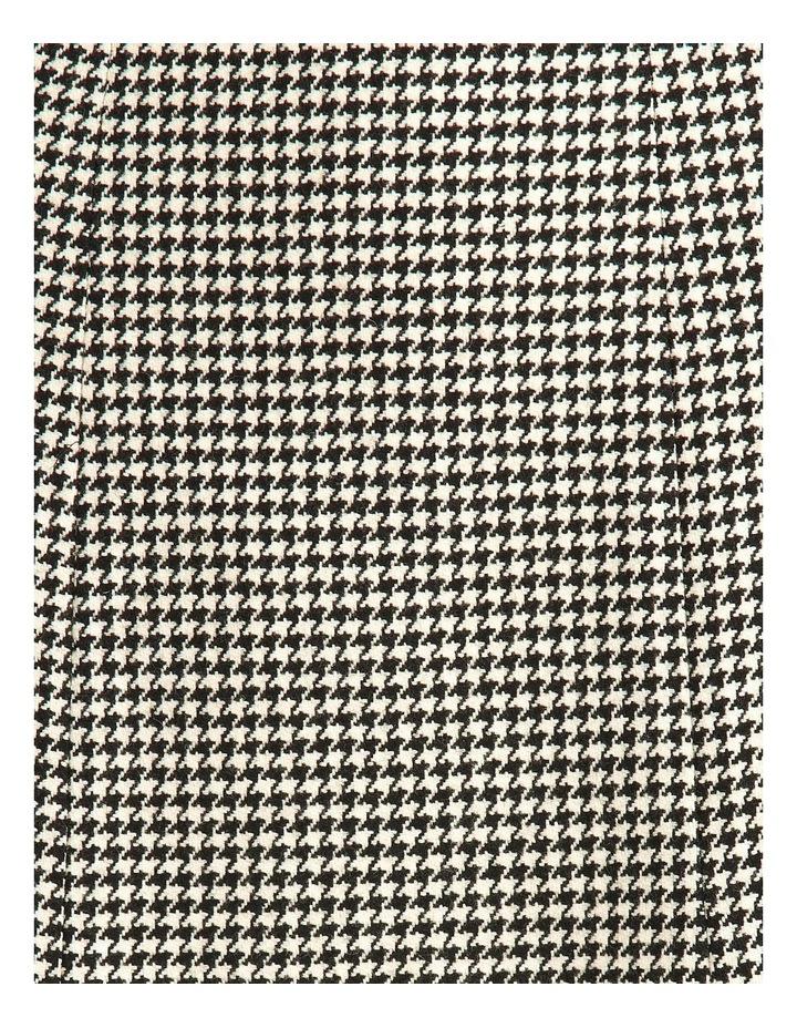 Houndstooth Wool-Blend Skirt image 5