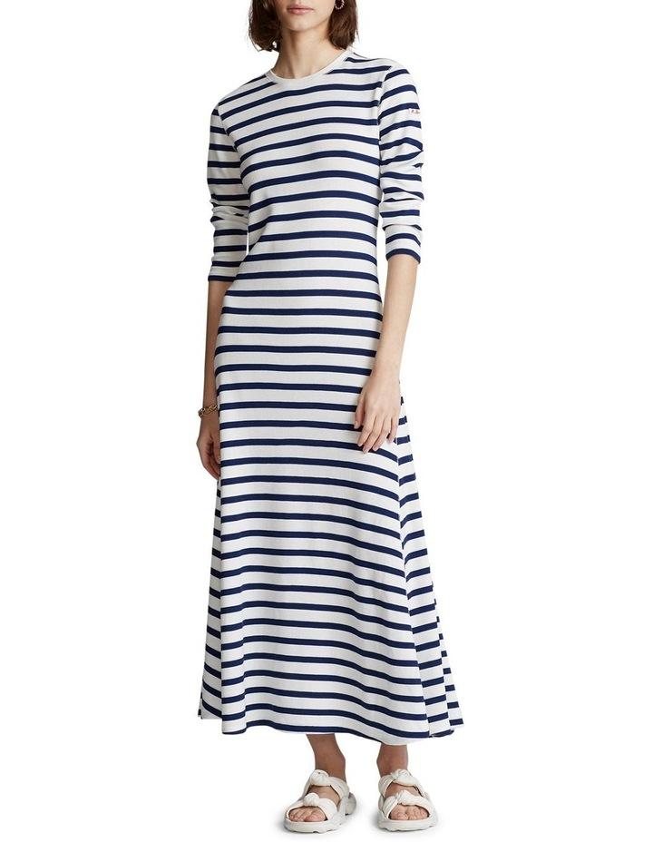 Striped Waffle-Knit Dress image 2