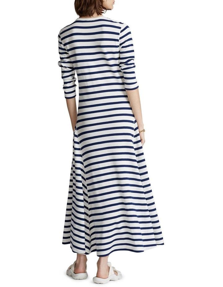 Striped Waffle-Knit Dress image 3