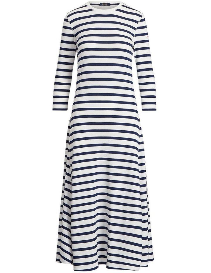 Striped Waffle-Knit Dress image 4