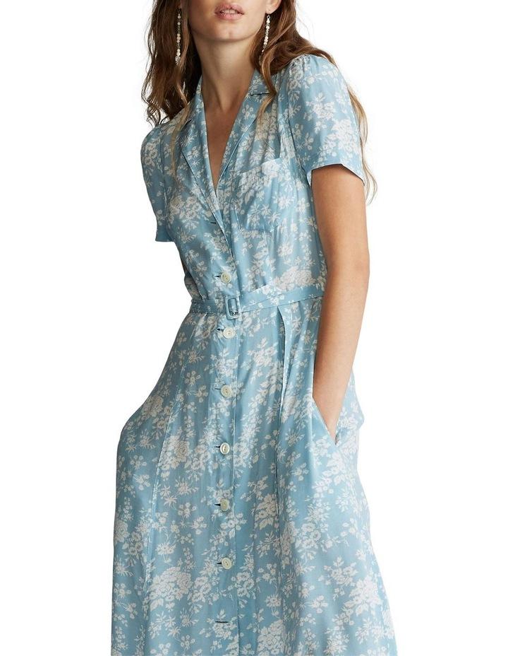Floral Crepe Midi Dress image 1