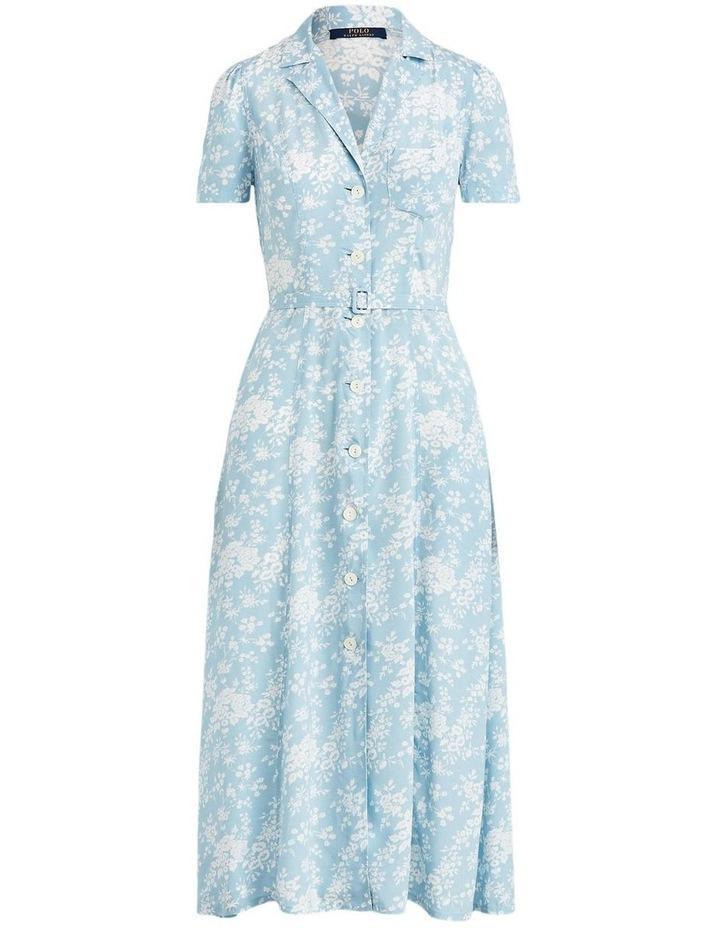 Floral Crepe Midi Dress image 4