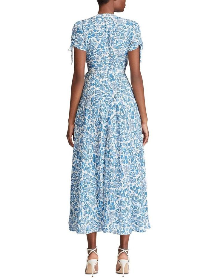 Floral Crepe Wrap Dress image 2