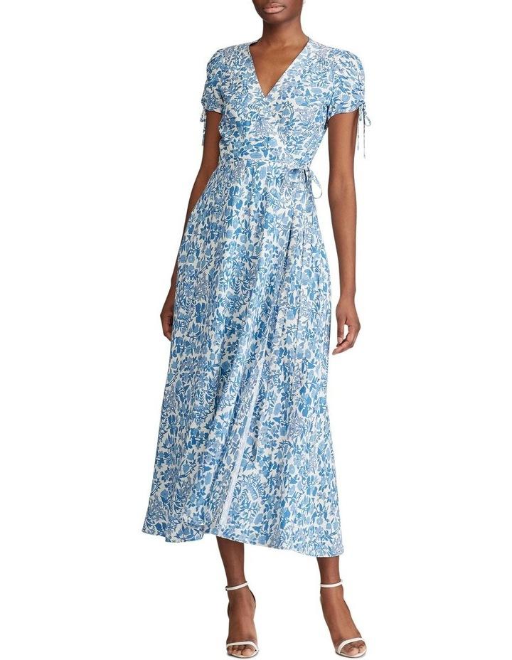 Floral Crepe Wrap Dress image 3