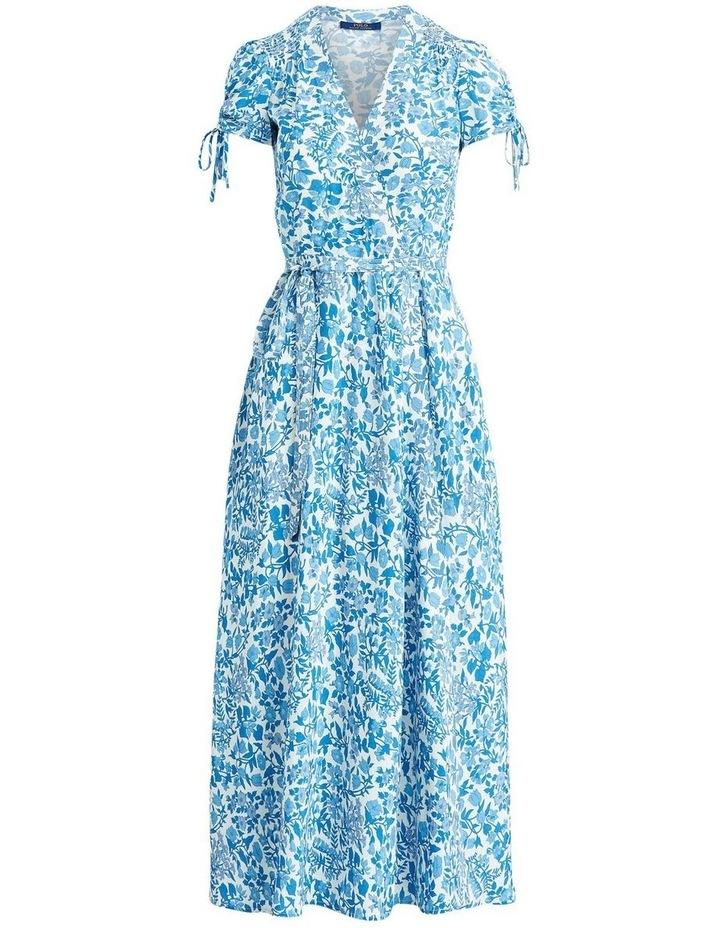Floral Crepe Wrap Dress image 4