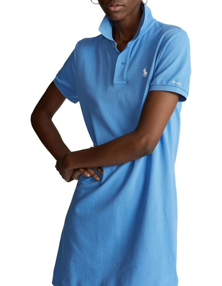 Cotton Mesh Polo Dress image 1