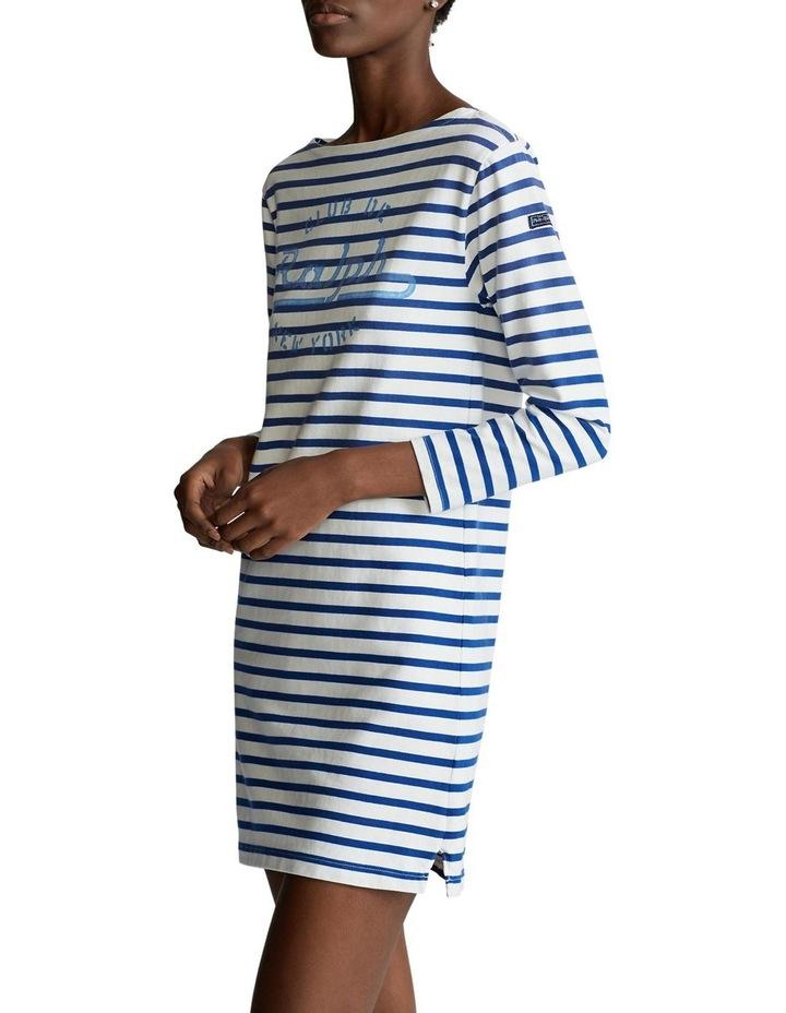 Striped Boatneck Dress image 1