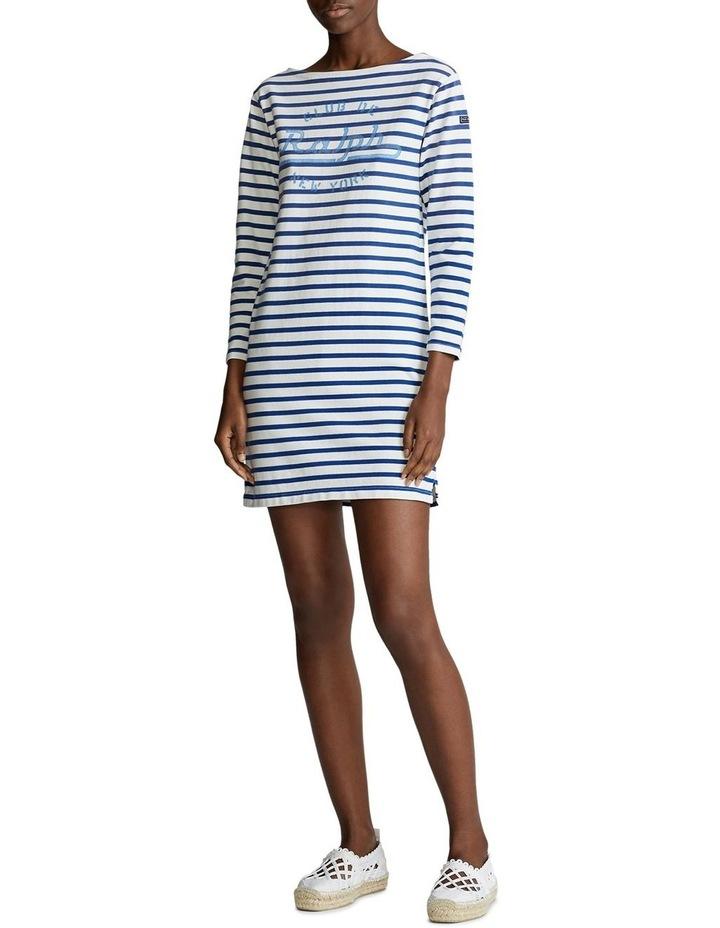 Striped Boatneck Dress image 3