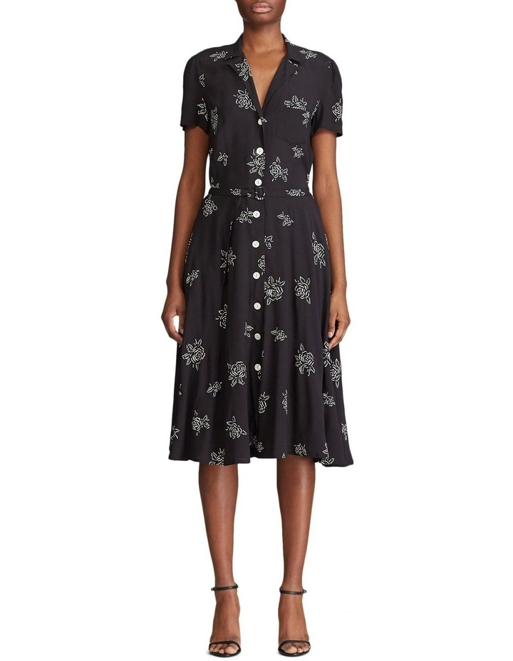 Belted Rose-Print Dress image 1