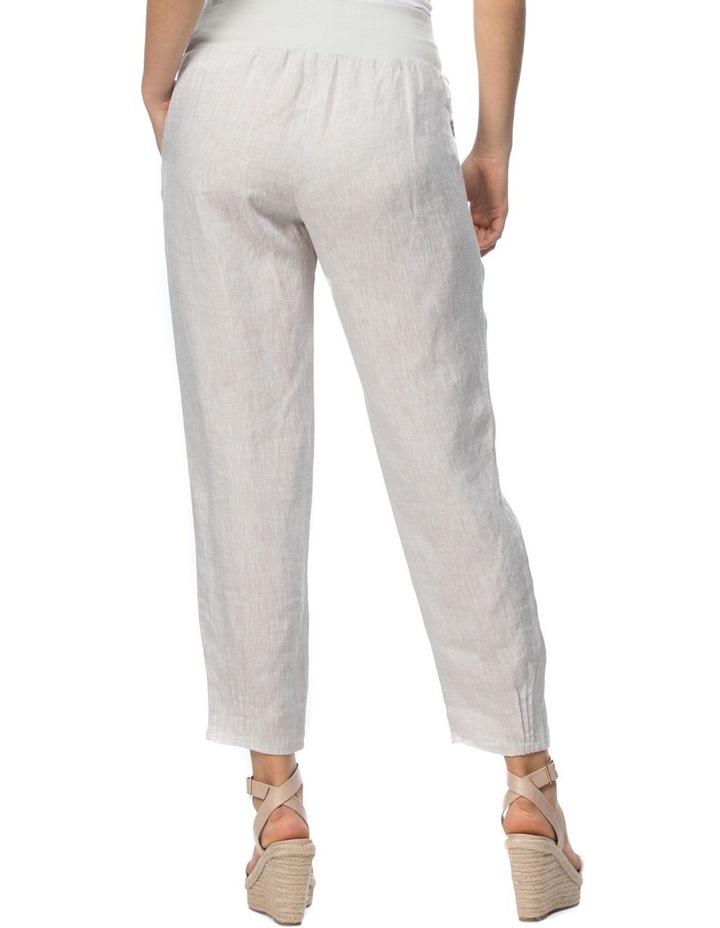 Ribbed Waist Yarn Dyed Linen Pant image 3