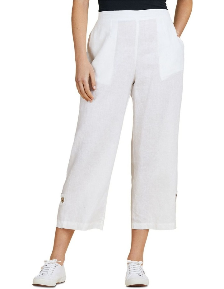Button Tab Wide Leg Pant image 1