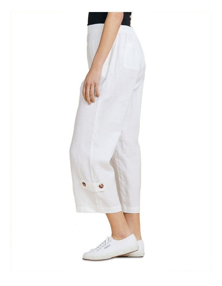 Button Tab Wide Leg Pant image 2