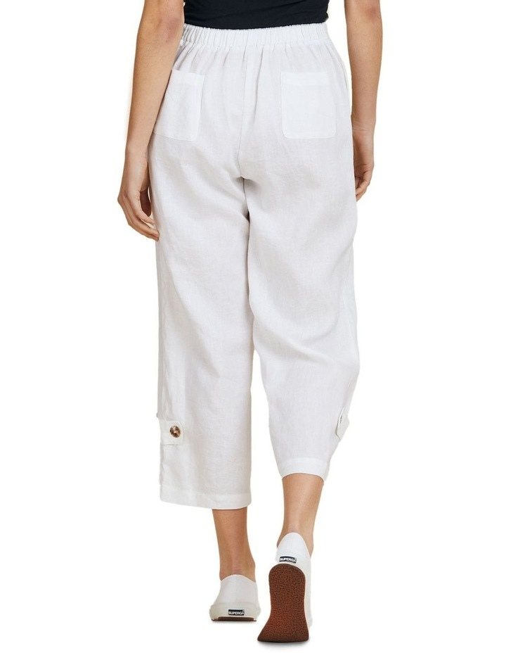 Button Tab Wide Leg Pant image 3