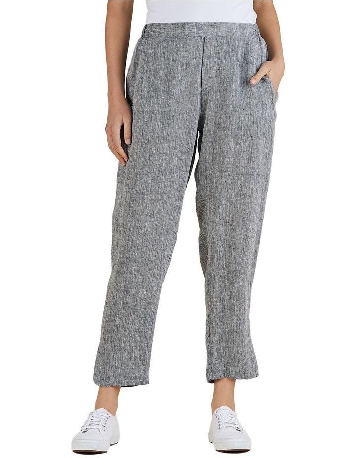 Yarn Dyed Linen Slim Pant image 1