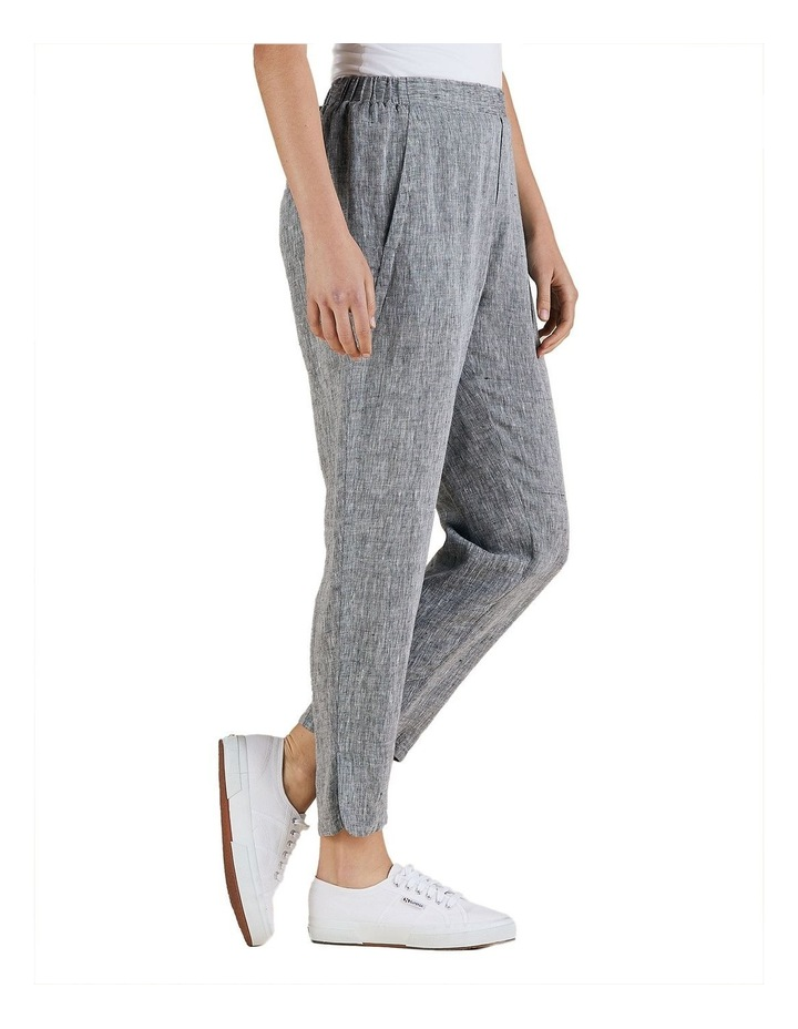 Yarn Dyed Linen Slim Pant image 2