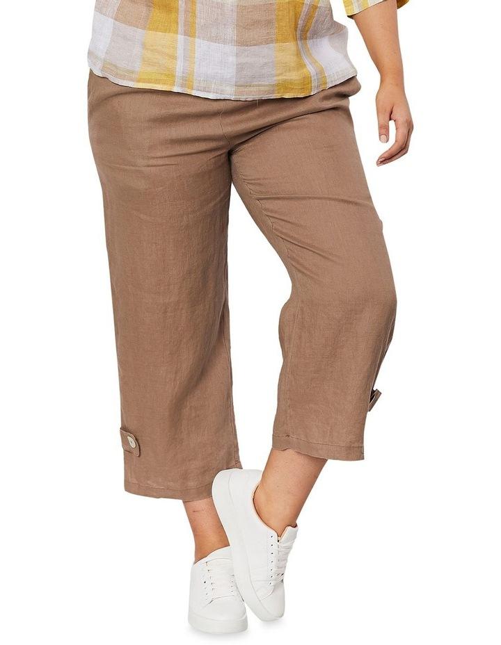 Side Button Linen Pant image 1