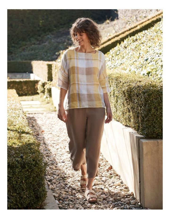 Side Button Linen Pant image 2
