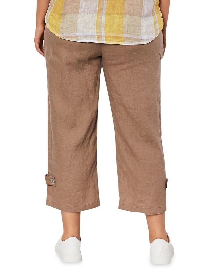 Side Button Linen Pant image 3