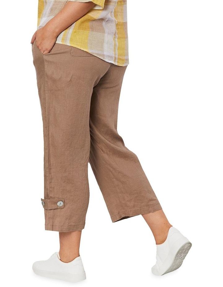 Side Button Linen Pant image 4