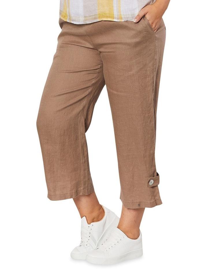 Side Button Linen Pant image 5