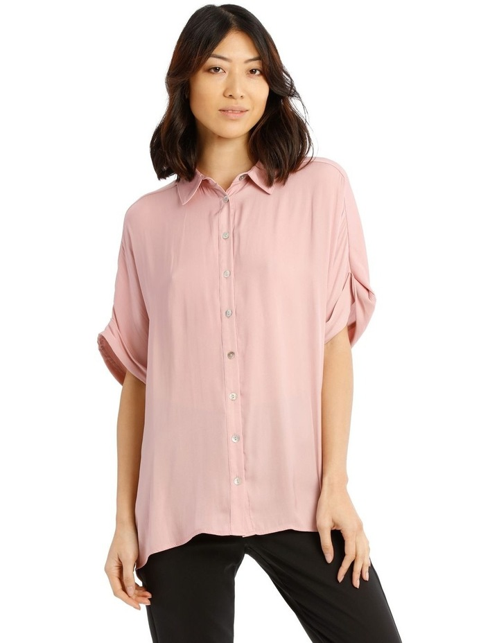 Luxe Button Front Relaxed Shirt image 1