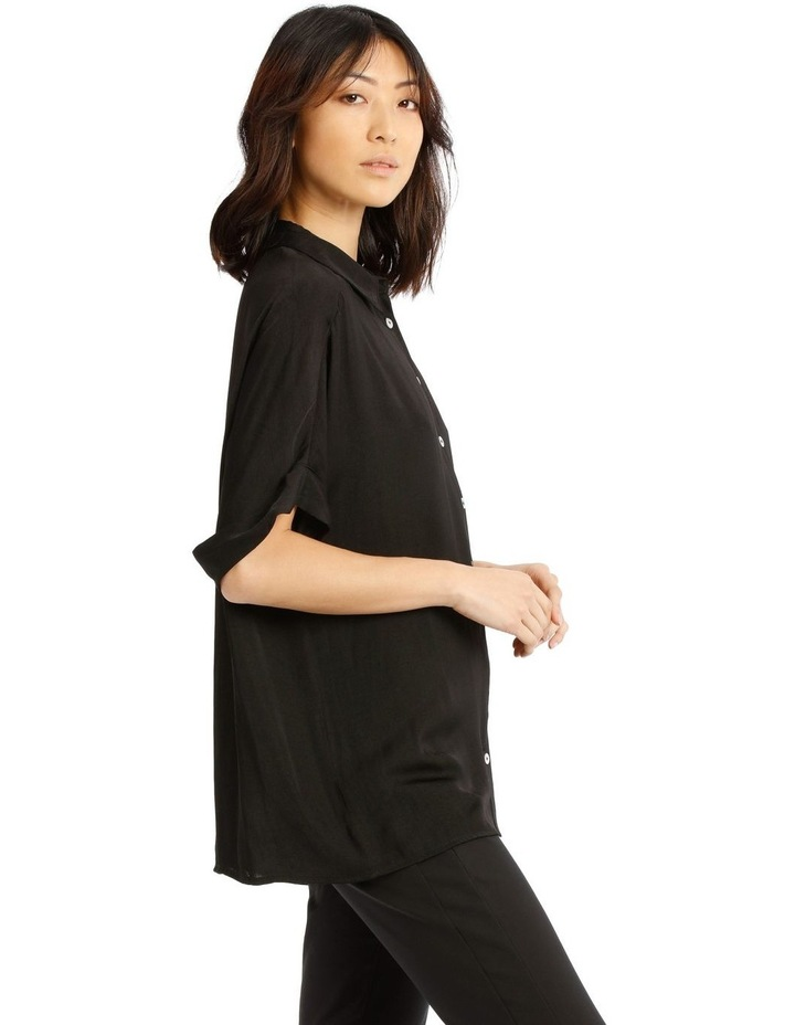 Luxe Button Front Relaxed Shirt image 2