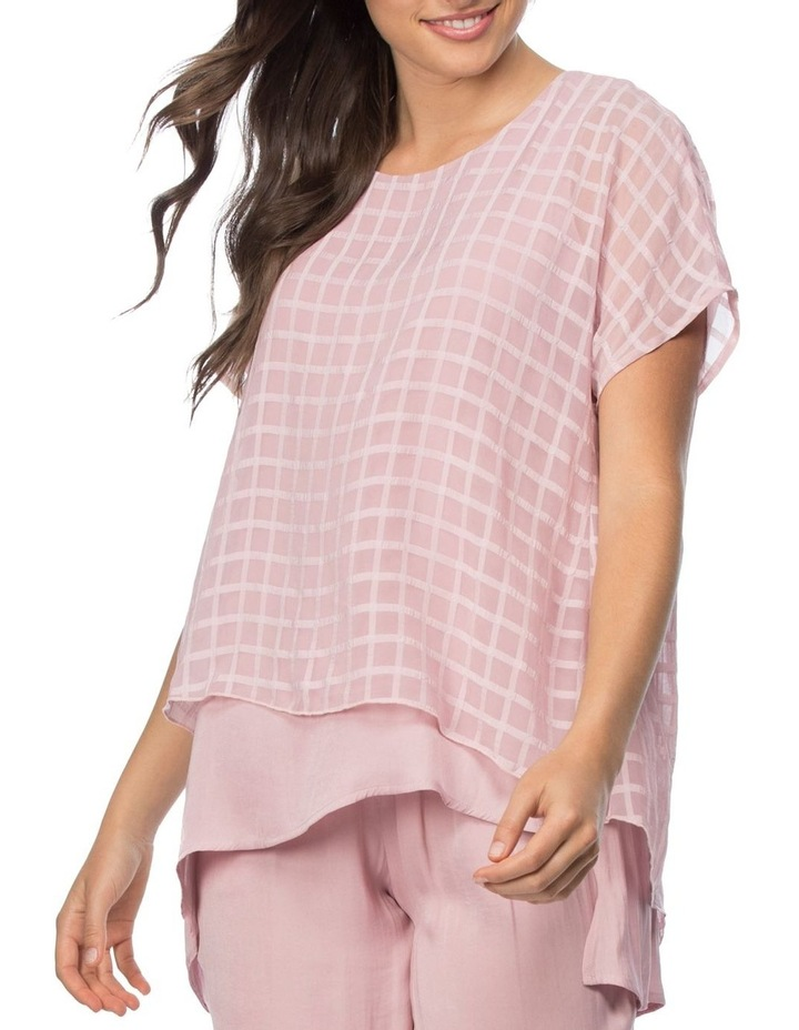 Check Georgette Overlay Luxe Top image 1