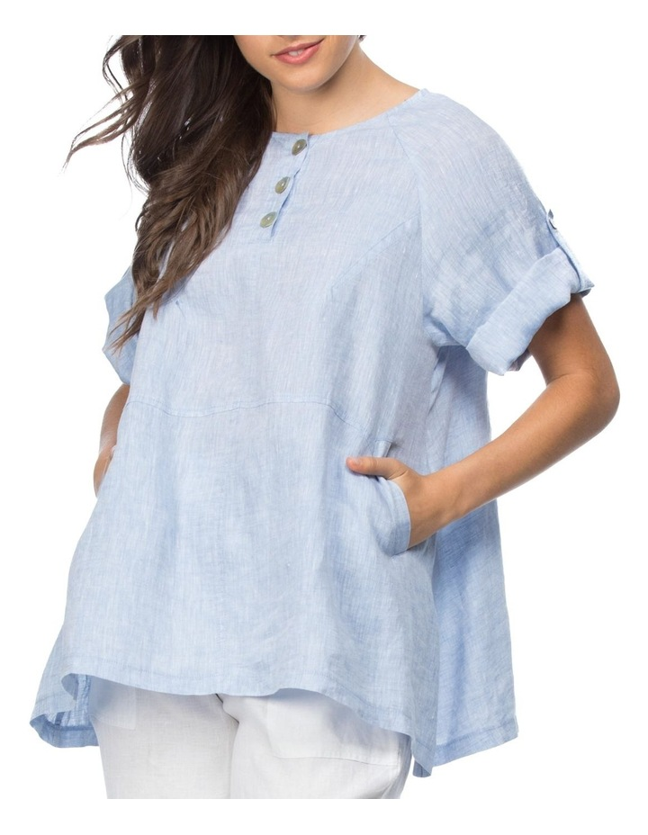 Tab Sleeve Tunic Top image 1