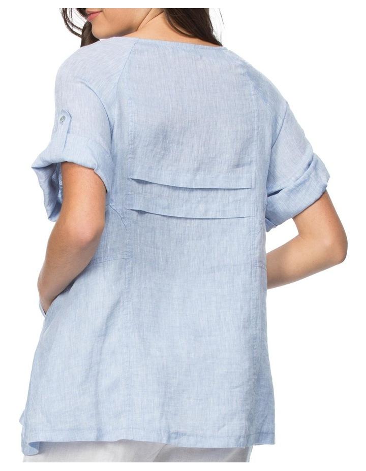 Tab Sleeve Tunic Top image 3