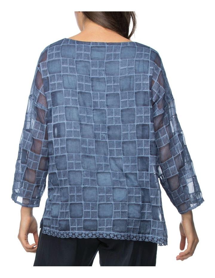 Self Check Embroidered Top image 3