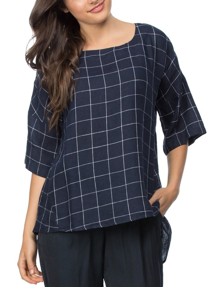 Check Top With Button Back Detail image 1