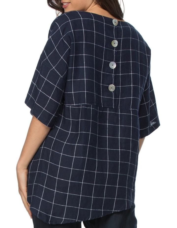 Check Top With Button Back Detail image 3