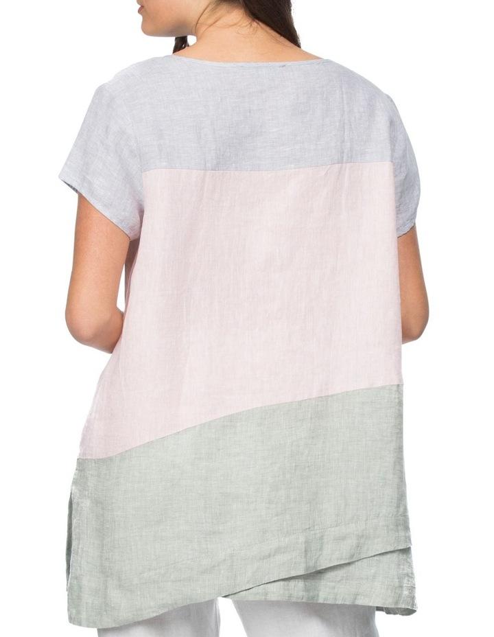Spliced Multi Coloured Short Sleeve Top image 3