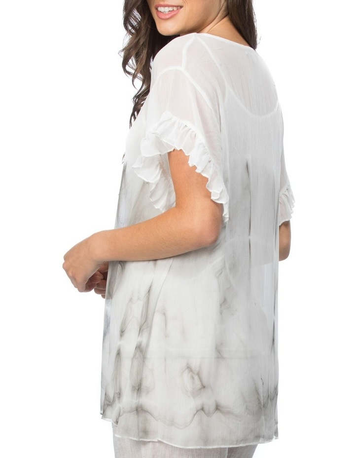 Tie Dyed Print Frill Sleeve Top image 2