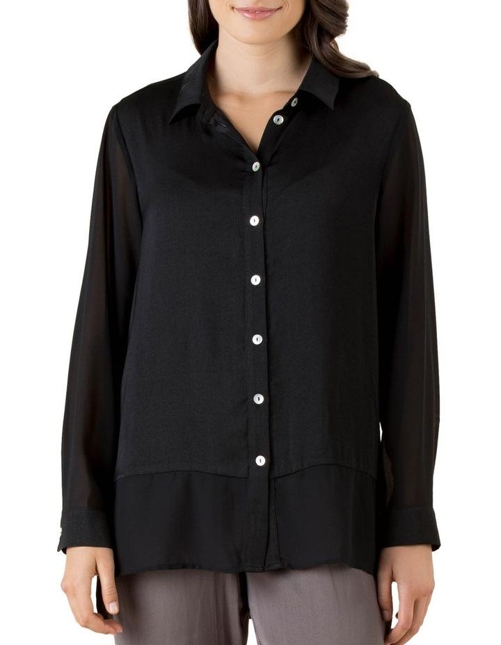 Lila Georgette Hem Long Sleeve Shirt image 1