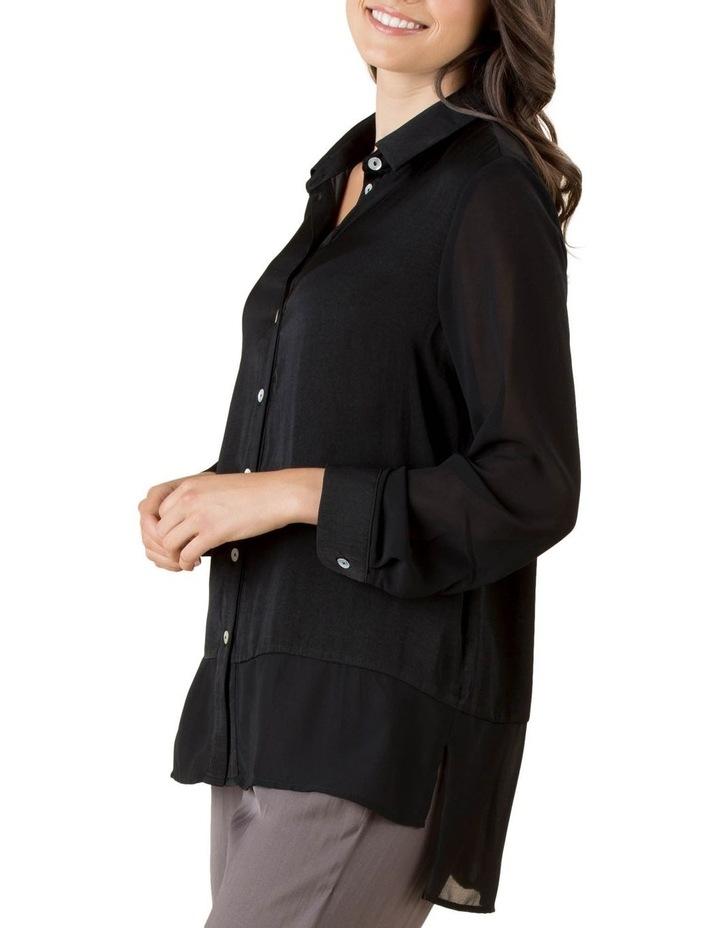 Lila Georgette Hem Long Sleeve Shirt image 2