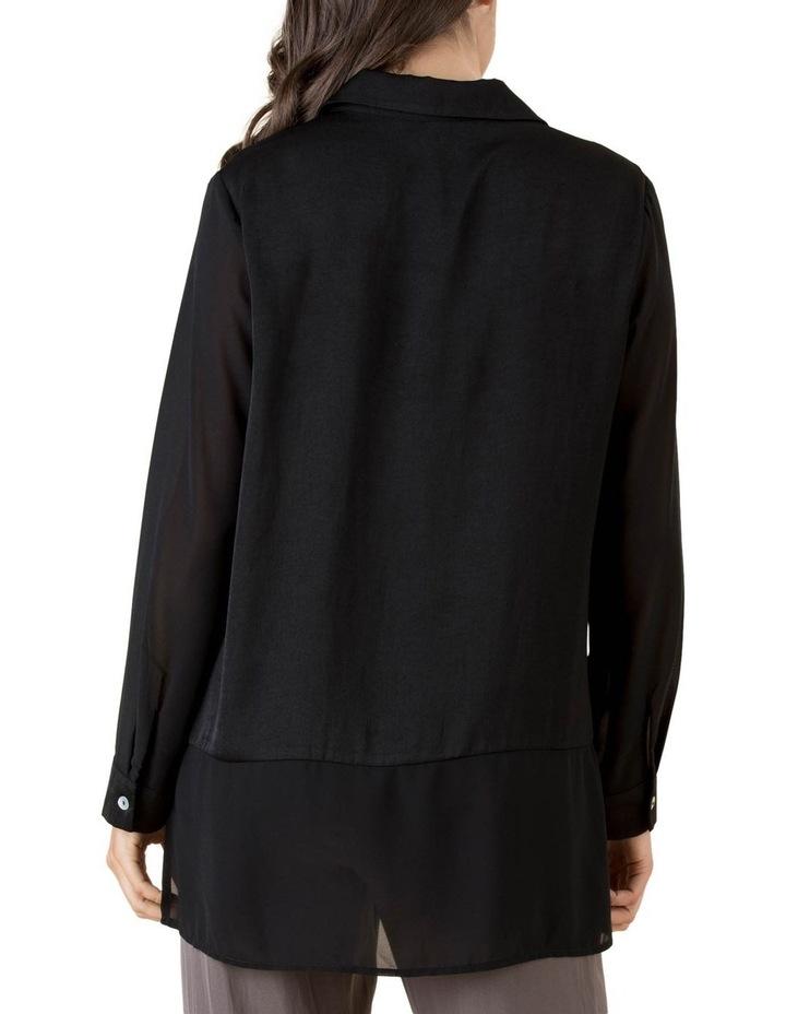Lila Georgette Hem Long Sleeve Shirt image 3