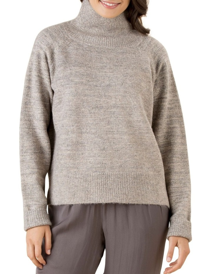 Shimmer Funnel Neck Knit Jumper image 1