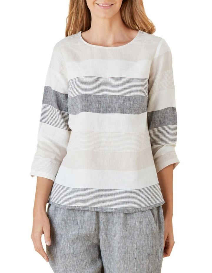Yarn Dyed Stripe Linen Top image 1