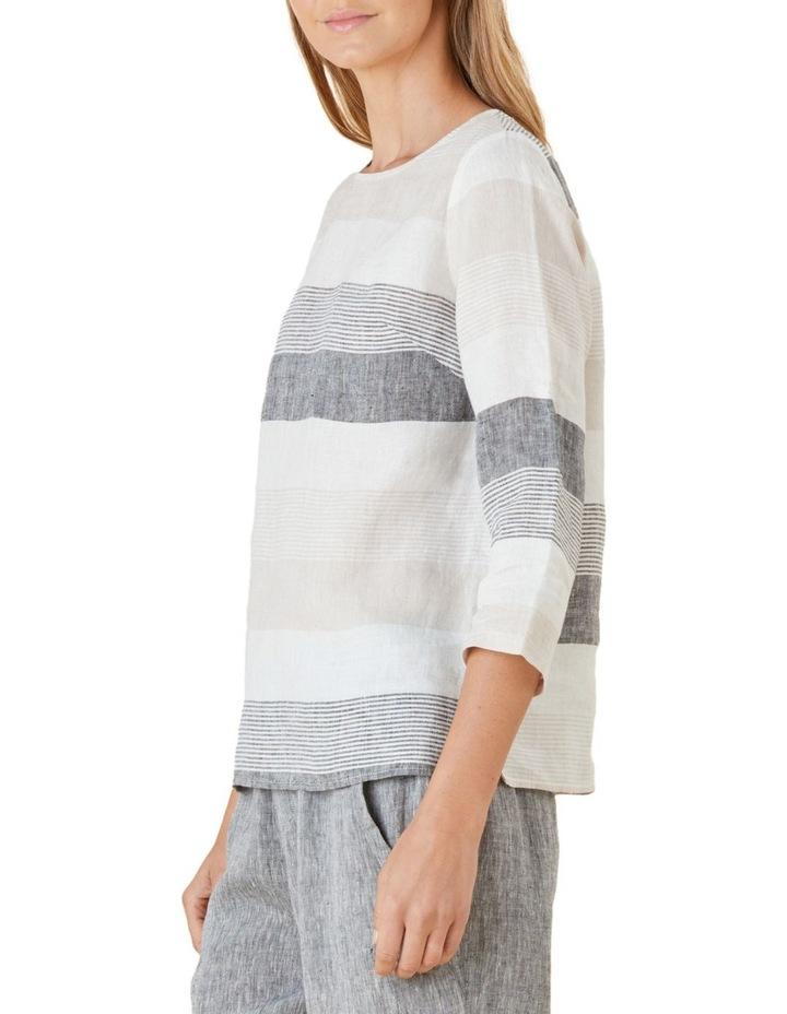 Yarn Dyed Stripe Linen Top image 2