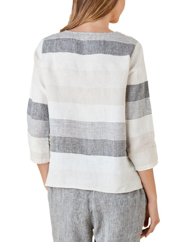Yarn Dyed Stripe Linen Top image 3