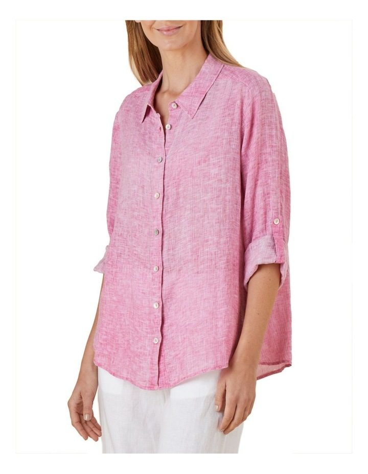 Tab Sleeve Yarn Dyed Shirt image 1