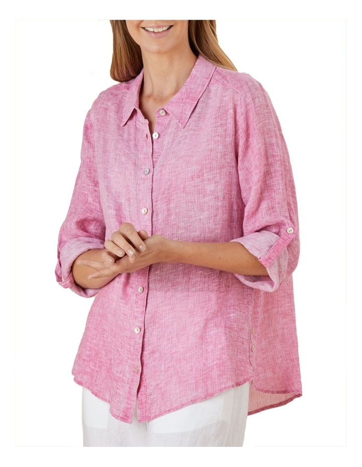Tab Sleeve Yarn Dyed Shirt image 2