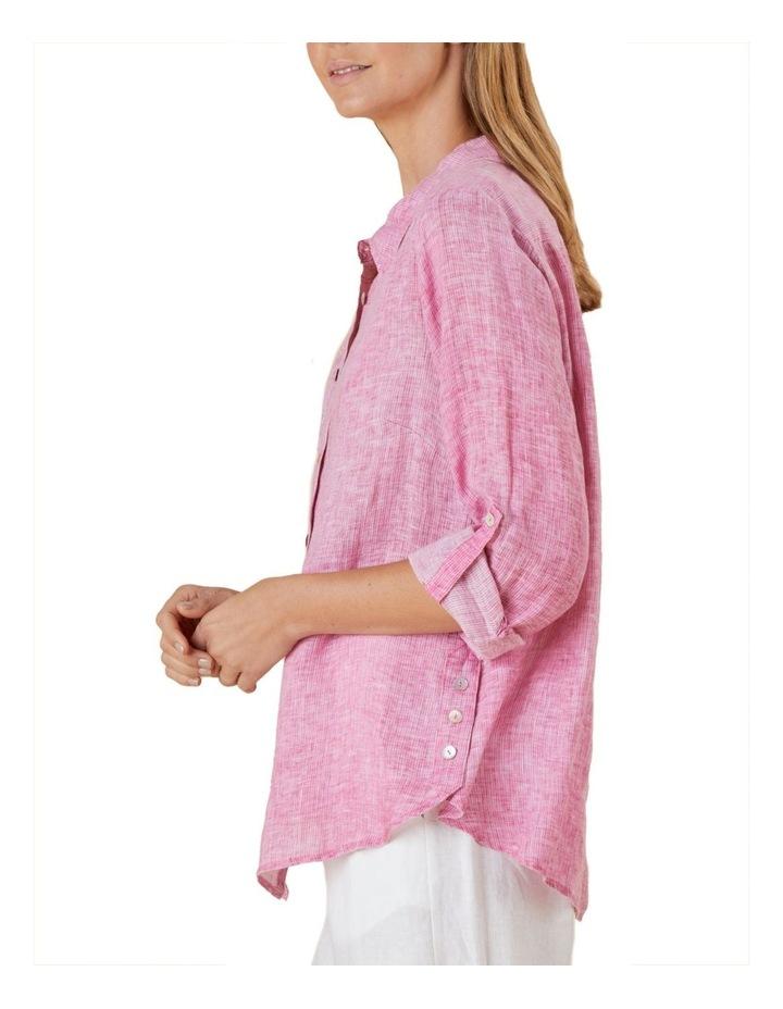 Tab Sleeve Yarn Dyed Shirt image 3