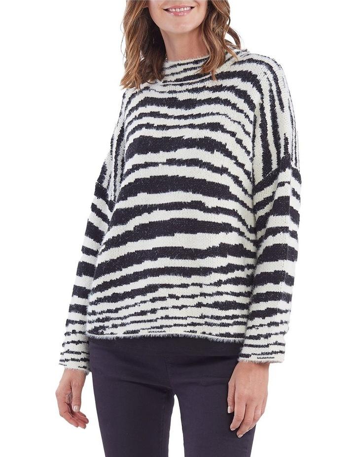 Zebra Pattern Knit Jumper image 1