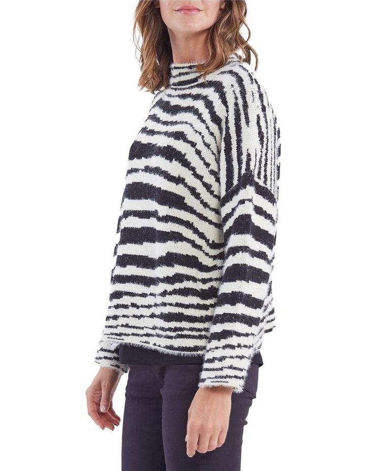 Zebra Pattern Knit Jumper image 2