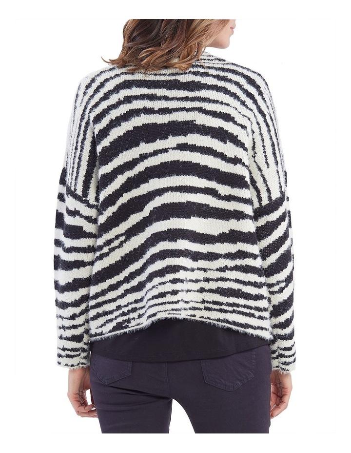 Zebra Pattern Knit Jumper image 3