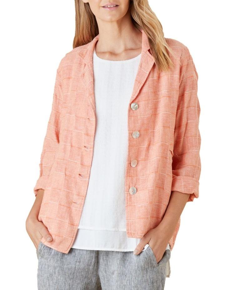 Self Check Linen Jacket image 1