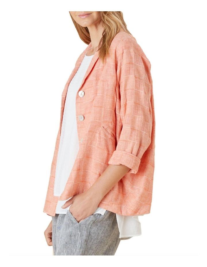 Self Check Linen Jacket image 2