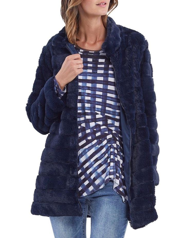 Faux Fur Zip Front Jacket image 1